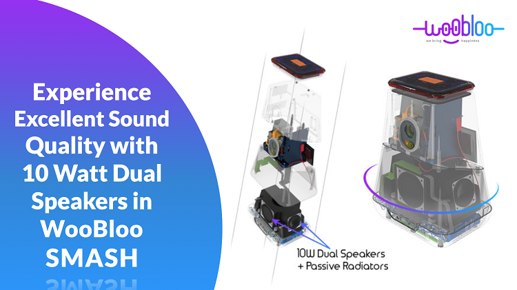 Experience Powerful Sound Quality With 10 Watt Dual Speakers in WooBloo SMASH