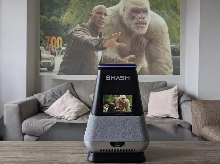 WooBloo SMASH is an All-in-One Entertainment System with a Built-In Smart Projector